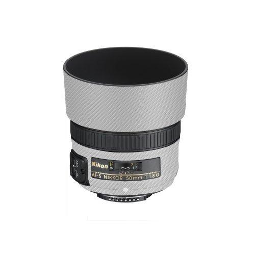 lensskins white carbon fiber for nikon 50mm f/1.8d af (n50f1