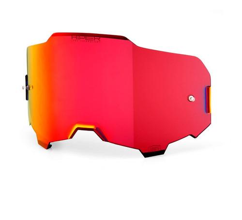 lente 100% espelhada armega - vermelho