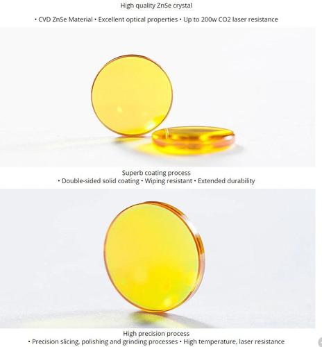 lente 12mm laser co2 dragon diamond  usa cvd znse el mejor!