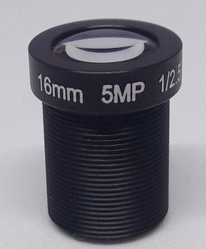 lente 16mm cctv com 5 megapixels 1/2