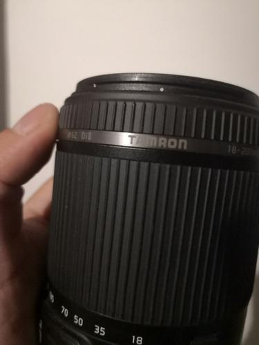 lente 18 200 canon tamron automático estabilizado