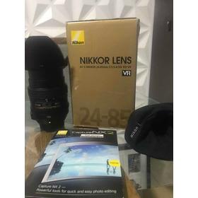 Lente 24-85 Nikkor F/3.5-4.5g Vr Na Caixa Pouco Usada
