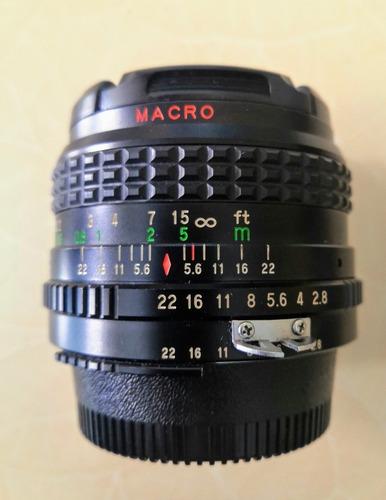 lente 28mm 2.8 macro para nikon marca underground