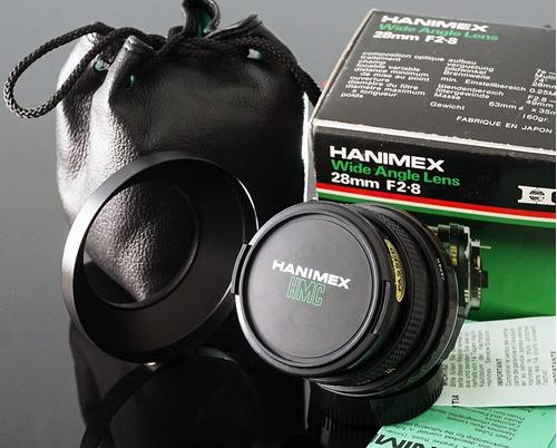 lente 28mm hmc hanimex  mount p/k