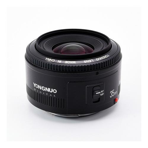 lente 35mm f2 yongnuo para canon + parasol | bolso | paños.