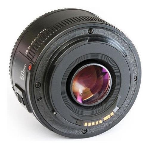 lente 50mm f1.8 yongnuo para canon + parasol | bolso | paños