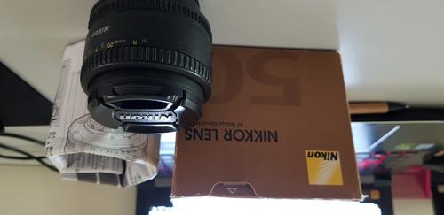 lente 50mm nikon - af nikkor 50mm f/1.8d original na caixa