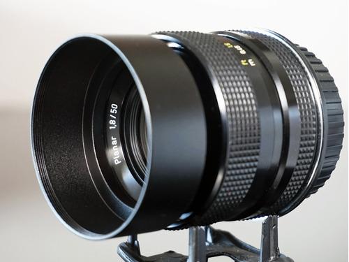 lente 50mm rollei planar sl\ zeiss- + adapt. sony emount nex