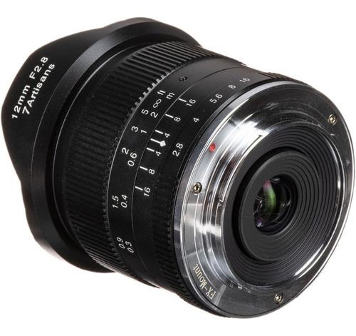 lente 7 artisans 12mm 2.8 p/ fujifilm fuji x-t20 x-t30 x-e3