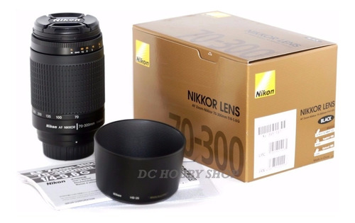 lente 70-300mm nikon f:4-5,6g af zoom apertura manual