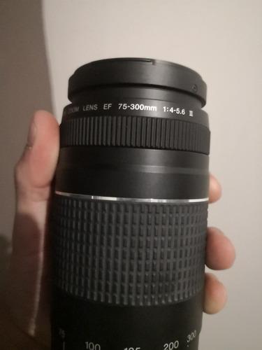 lente 75 300 canon estabilizado automático iii