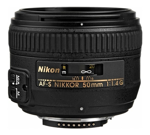lente af-s nikon nikkor 50mm f/1.4g 1.4 g + parasol + bolso