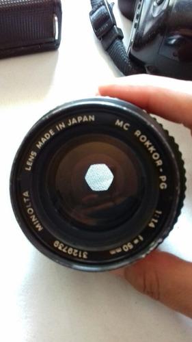 lente analogo minolta mc rockor -pg   f 50mm 1:1.4
