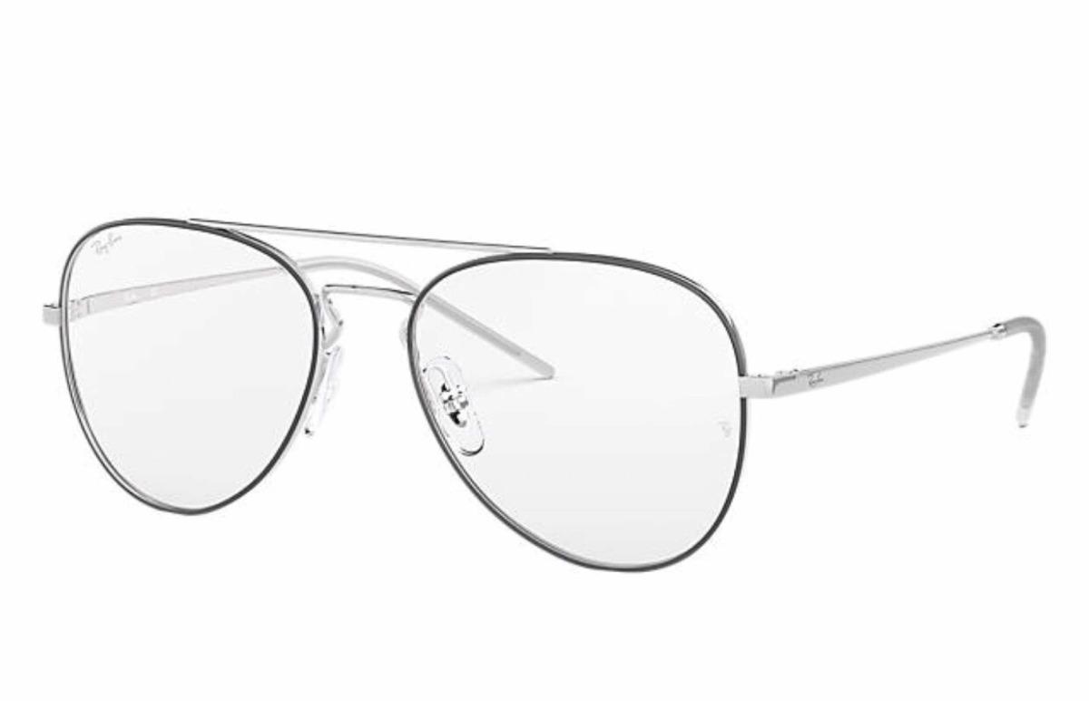 73ebed32eaeda lente armazón oftalmico ray ban modelo 6413 piloto plata. Cargando zoom.