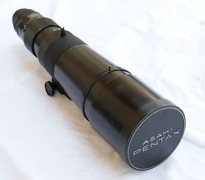 lente asahi takumar 500mm 4.5 m42 35mm super luminoso