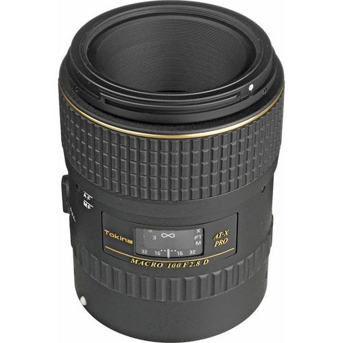 lente autofocus macro tokina 100 mm f / 2,8 at- x m100 af pr