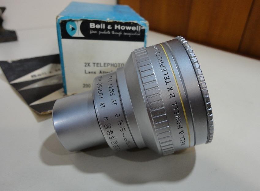 Lente Bell & Howell 2x Tele Para Câmeras 16mm Bell 200 E 240