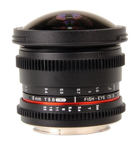 lente bower sly8vds ultra-wide 8mm t3.8 digital fisheye