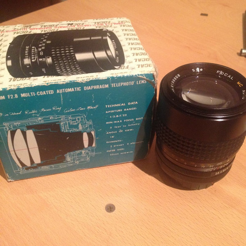 lente cámara fotográfica 135 mm f2.8 - marca focal