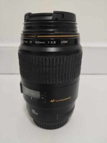 lente canon 100 mm macro ef usm f/2.8
