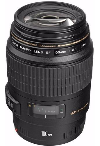 lente canon 100mm macro ef usm f/2.8 nova garantia brasil