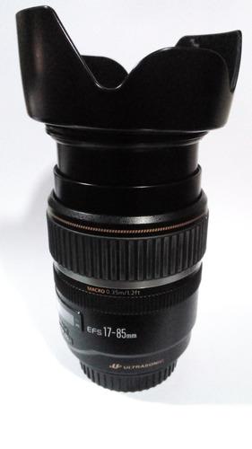 lente canon 17-85 mm en perfecto estado