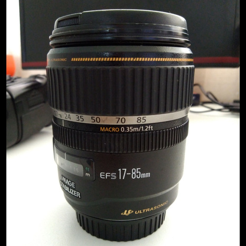 lente canon 17-85 mm ultrasonic com estabilizador de imagem