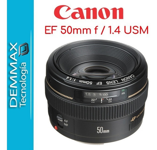 lente canon 50mm 1.4 usm nuevo original