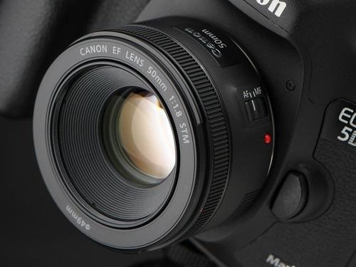 lente canon 50mm 1.8 stm original lacrada+ parasol