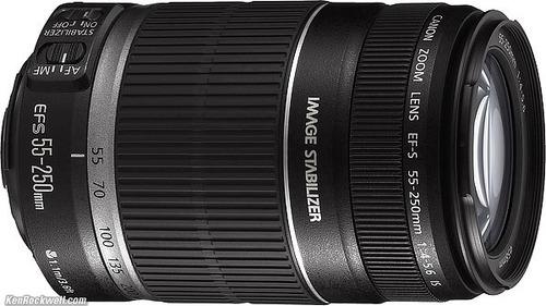 lente canon 55-250 mm