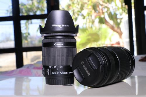 lente canon 55-250mm + 18-54mm + parasol