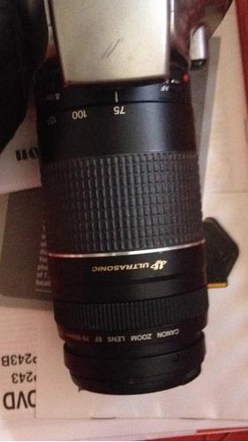 lente canon 75-300 mm iii ultrasonic