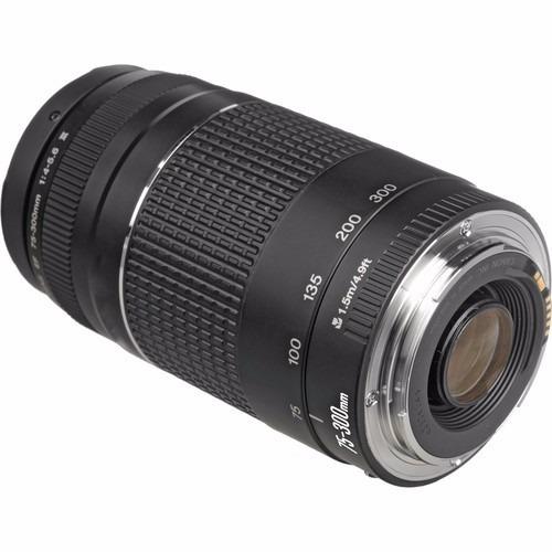 lente canon 75-300mm f/4-5.6 iii(3) ef autofoco prta-entrega