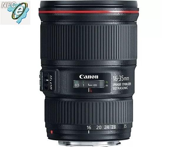 1f8d361a9 Lente Canon Ef 16-35mm F/4l Is Usm - Nova Garantia 12 Meses - R$ 5.290,00  em Mercado Livre