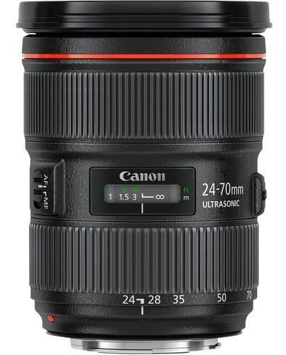 lente canon ef 24-70mm f/2.8l ii usm brasil 12x s/juros