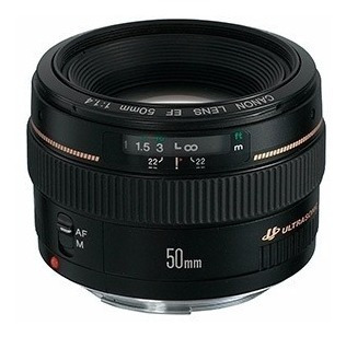 lente canon ef 50mm f/1.4 usm garantia brasil 12x s/juros