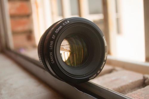 lente canon ef 50mm f/1.4 usm negro