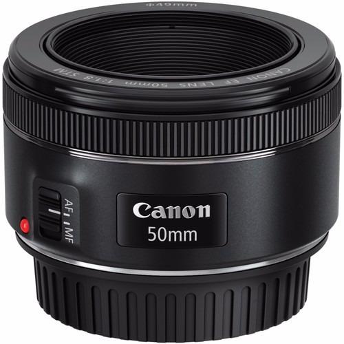 lente canon ef 50mm f/1.8 stm + filtro uv 49mm /garantía |