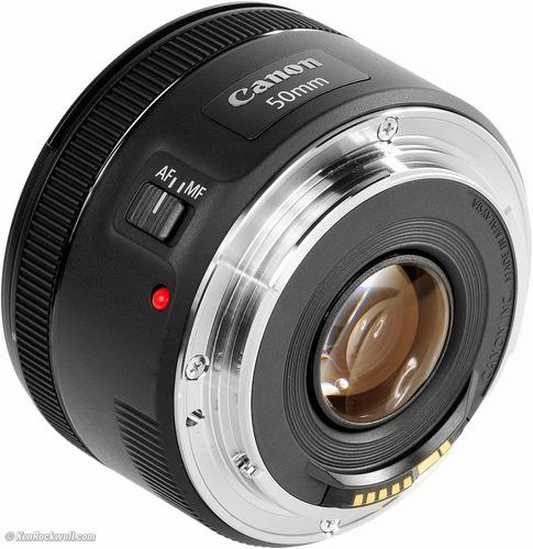 lente canon ef 50mm f/1.8 stm.  nuevo. r y m