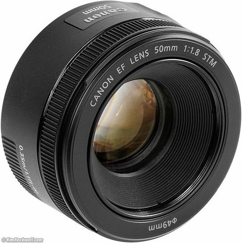 lente canon  ef 50mm f1.8 stm  nuevos