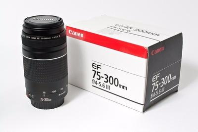 lente canon ef 75-300 mm f  nuevo en caja