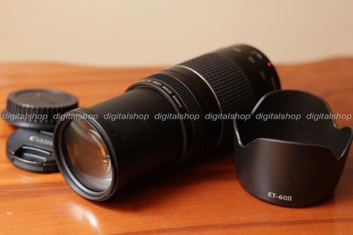 lente canon ef 75-300mm f/4-5.6 iii casi nuevo! + parasol