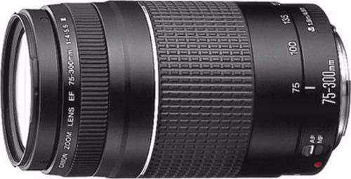 lente canon  ef 75 - 300mm  f/4-5.6iii  nuevos!!!
