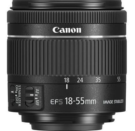 lente canon ef-s 18-55mm f4-5.6 is stm (nova)