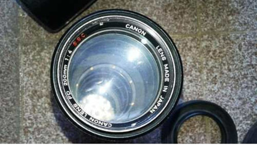 lente canon mecânica 200mm f4