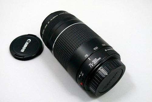 lente canon original 75-300mm f4-5.6 iii ef entrega inmediat