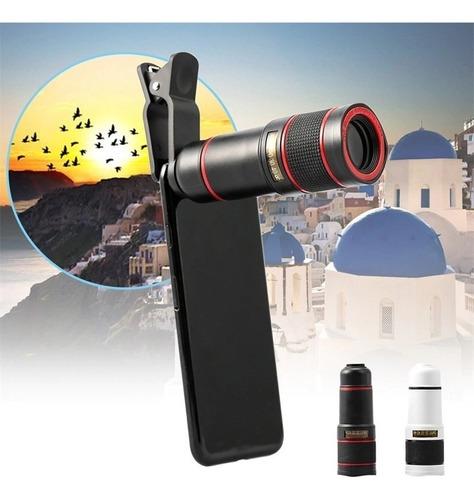 lente celular luneta monóculos telescopica universal zoom 8x