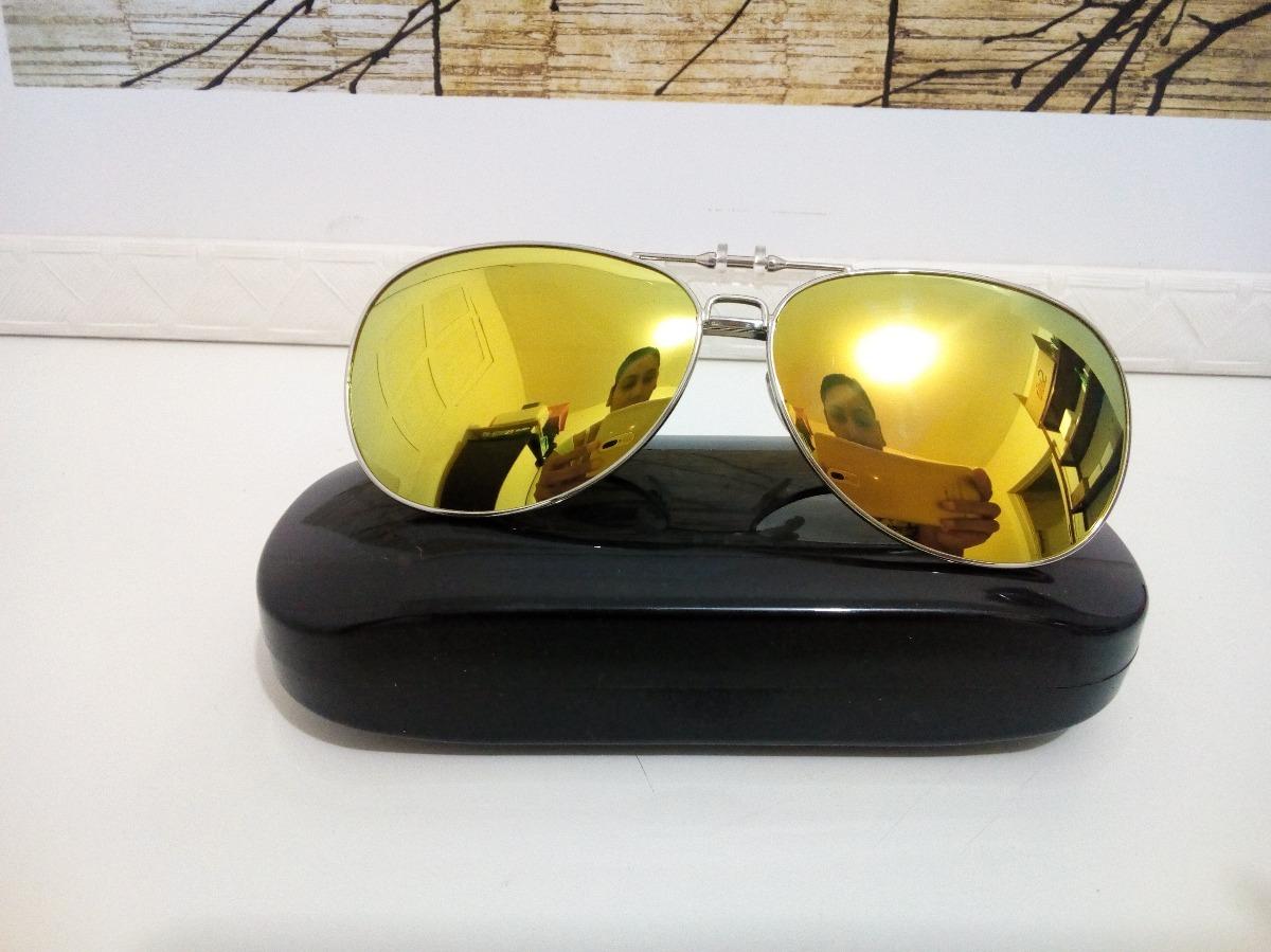 95330104e142b lente clip-on grande aviador metálico polarizado amarelo. Carregando zoom.