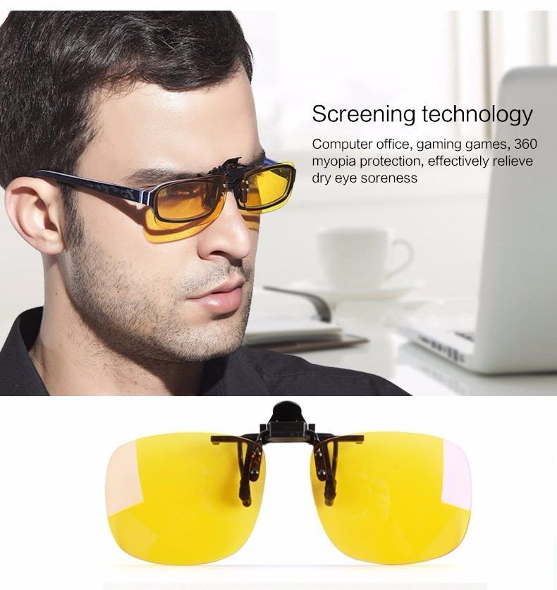 Lente Clip On Sobrepor Óculos De Grau - (amarela) - R  25,00 em ... 2af0667d4d