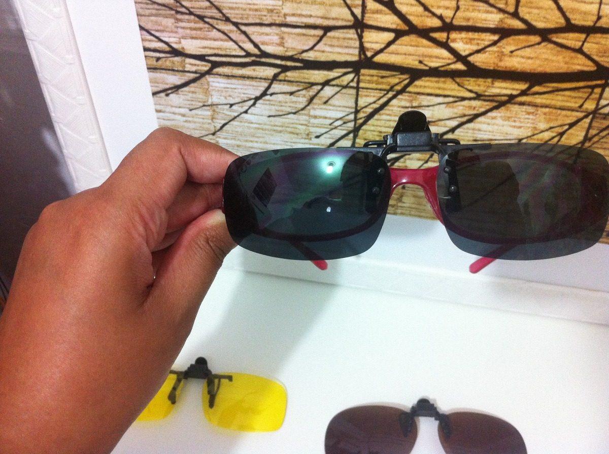 3e1f0d439 lente clip on sobrepor óculos de grau - (amarela). Carregando zoom.